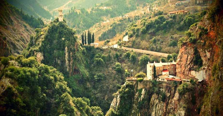 Greece Travel: О-в Эвбея: обитель блж.Давида, Карпениси, мон. Пруссос, празднование Рождества (фото 7)