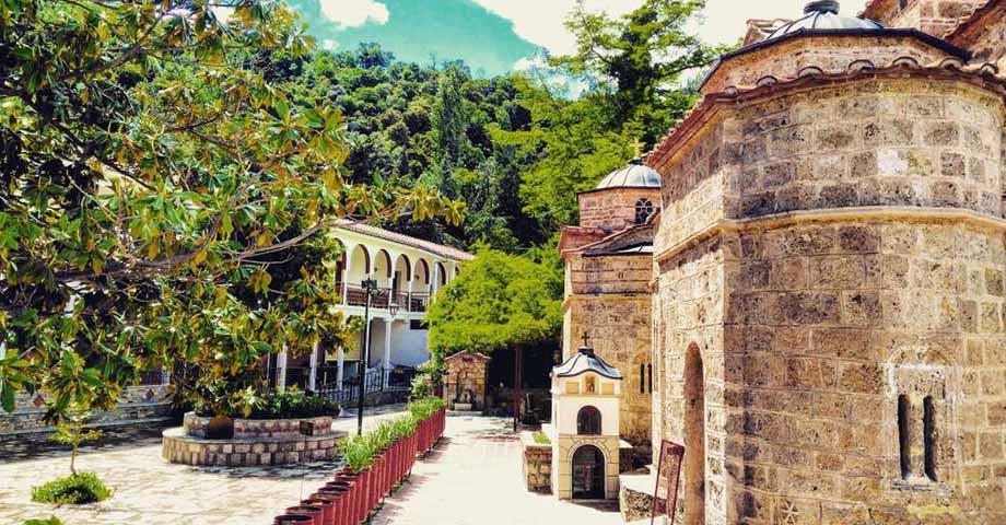 Greece Travel: О-в Эвбея: обитель блж.Давида, Карпениси, мон. Пруссос, празднование Рождества (фото 10)